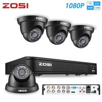 ZOSI 1080P AHD CCTV System 8CH Network TVI DVR 4PCS 1280TVL IR Weatheroide Home Security Camera Systemüberwachung DVR KIT1