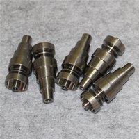 Top Quality 6 em 1 Ajustável Anoeless GR2 Dab Nail Titanium Nails Masculino Feminino para plataformas de óleo Bong de vidro em estoque
