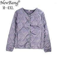 NewBang Brand Plus Размер Wherloble Coat Женщины Легкие хлопковое пальто Зимой Теплый Линнер с молнией Feamale Slim Jackets1