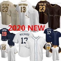San Diego Padres 23 Fernando Tatis Jr. Baseball Jersey  Фернандо Татис младший бейсбол для бейсбола 13 Manny Machado 19 Tony Gwynn Retro Custom 2020 Новый сезон Джерси
