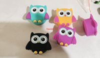 Owl shape wax containers cartoon silicone box 11ml silicon container food grade jars dab dabber tool storage bho hash oil herb DHL