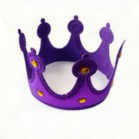 King Crown هالوين الأطفال الكبار حزب تأثيري ساطع القماش قبعة الأمير الأميرة الملكة الإمبراطورية التيجان المصنع مباشرة بيع جديد 2 8cy p1
