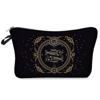 Doze Constelações Impressão de Sacos Cosméticos Mulheres Makeup Bolsa Saco Saco de Viagem Saco de Lavagem Casual Moeda Bolsa de Armazenamento GWF4786