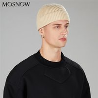 Sombrero de invierno para hombres New Docker Cap Tergamado de punto Goreie Hombres Skullcap Unisex Tapa sin alineado Color Sólido Mujer Beanie Hombre Hip Hop Hat Y201024