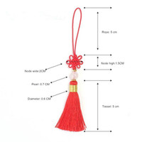 30pc Mini Chinese Round Bead Tassel Fringe Jewelry Curtain M...