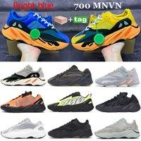 جديد مشرق الأزرق الشمس عداء 700 تشغيل أحذية رياضية og الصلبة رمادي الجمود الكربون الساكنة البرتقال الأسود العظام العاكس الرجال النساء الأحذية
