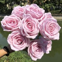 Silk Peony Bouquet Home Decoration for Wedding Party Scrapbook Fake Plants Diy Pompons Artificial Roses Flowers