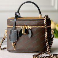 Bolsos bolsos bolsas de cuero de alta calidad letra floral bolso de mujer bolsa de hombro caja cosmética vienen con cajas 17x22cm