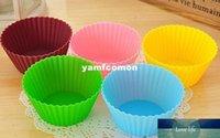 Silica Gel Liners Baking Mould 7 centímetros Silicone Muffin copo bolo assando Eco-friendly Cupcake Bakeware