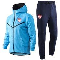 2020 2021 Nimes futbol Hoodie Kazak Eşofman Takımları kış rahat sporu Setleri Koşu kapüşonlu eğitim spor takım elbise ceket mens