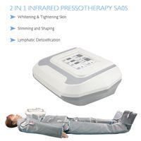 uso salão profissional separados projeto terno 2 em 1 drenagem linfática corporal emagrecimento máquina de massagem Pressoterapia infravermelho distante