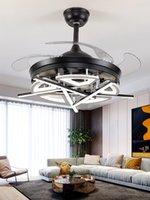 Nordic Bedroom Decor Arredamento LED Ventilatore da soffitto Lampada da pranzo Sala da pranzo Ventilatori a soffitto con luci Lampade per telecomando per soggiorno