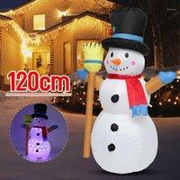1.2m Decorazione natalizia Decorazione di Natale Snowman di Natale / schiaccianoci / Decorazione di Natale Orso con le luci1