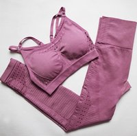 Seamless Yoga Sets Gym 2 Piece Set two Workout Clothes for W...