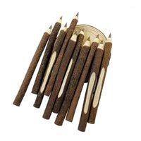 Vintage individualización de madera bolígrafo bolígrafo ambiental ramita de madera bolas de madera Suministros de oficina al por mayor 50 PCS / Lot1 bolígrafos