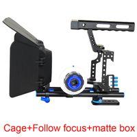 Freeshaping Caméra Cage Poignée DSLR Vidéo Stabilisateur Stabilisateur Riche de tige pour Sony GH4 GH5 GH5S A6300 A6500 A7S A7 A7R A7RII A7SII Caméra Cage de cinéma