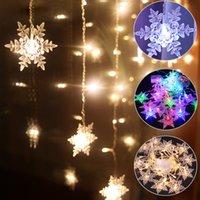 Outdoor Weihnachtsschneeflocke LED-String leuchtet Flashing Lights Vorhang-Licht Wasserdichtes Feiertags-Party anschließbare Welle Fairy Light D30