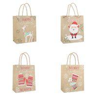 Regalo di Natale Kraft Paper Bag creativo Bronzing Cute Cartoon Natale Packaging Borsa KKB2675