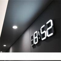 Современный дизайн 3D светодиодные настенные часы современные цифровые будильники-часы дисплей дома гостиная офисная таблица стола ночь настенные часы дисплей