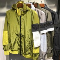 2021 männer luft mit kapuze jacke windbreaker reißverschluss hoodies patchwork mantel jacken stein laufen sport hoody jogger casual issel mantel outerw 21