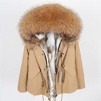 maomaokong Rabbit Fur Parkas Veste d'hiver Femmes Parka Manteau de fourrure réel 201014
