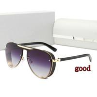 2021 Edition limitée Lunettes de soleil à la mode Femmes Hommes Métal Vintage Sunglasses de mode Square Square Square sans cadre UV 400 lentille Original Box and Case
