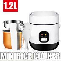 1.2L 350W 220V البسيطة رايس طباخ كهربائي 2 طبقات التدفئة الباخرة متعددة الوظائف وجبة الطبخ حساء وعاء 1-2 الناس الغداء مربع