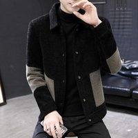 Men's Wool Blends Giacca invernale Uomo Autunno British Style Style Cappotto di lana Trench Mens Giardini Breve Manteau Homme Hiver