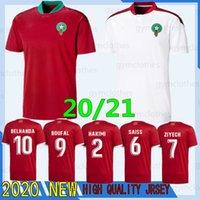 Thai 2020 Européenne Maroc Soccer Jerseys 19/20 Maillot de Foot Ziyech Boutaib Camiseta De Futbol Boussoufa el Ahmadi Chemise de football