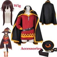A bênção de Deus Konosuba nesta maravilhosa munga mungina manto uniforme uniforme de halloween outfit anime megumina cosplay peruca + wig cap1