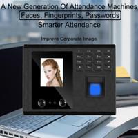 Biométrico Facial Fingerprint Tempo sistema de atendimento USB Relógio reconhecimento do empregado Recorder Electronic Device Máquina Inglês