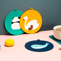 Cartoon Thermal Mats Household Coaster Bowl Mat Kitchen Silicone Antiironing Dinner Plate Teacup Table Decoration For Free DHL