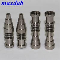 Herramientas de mano Clavo de titanio 10 14 mm 18 mm Hombre masculino Domelless Ti clavos para 16mm 20mm Calentador de la bobina Fábrica Venta directamente
