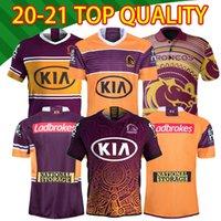 2020 2021 Brisbane Broncos Anzac Runde Polo Jersey Best 20 21 National League Brisbane Broncos Hochwertiges schönes Rugby-Hemd S-5XL