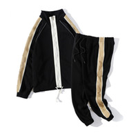 Vêtements homme 2020 hommes de la marque Sweat printemps Costume Automne manches longues Deux-pièces automne Survêtement pantalon de jogging Vestes +
