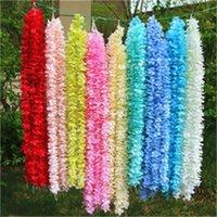 الاصطناعي الزهور الأوركيد سلسلة زينة الزفاف زهرة القش احتفال حزب ديكور المنزل جدار الزهور اللون متعدد 1 8LT H1