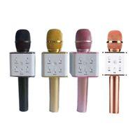 Hot Q7 Handheld-Mikrofon Bluetooth Wireless KTV mit Lautsprecher-Mikrofon-Mikrofono-Handheld für Smartphone tragbarer Karaoke-Player vs Q9
