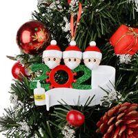 2020 Cuarentena Navidad fiesta decoración regalo Santa Claus con máscara Ornamento de árbol de Navidad personalizado Todas las series