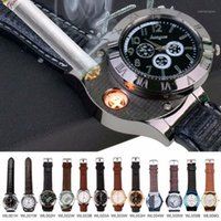 Relógios de relógios moda recarregável usb relógio mais leve relogio masculino impermeável relógios de cigarro sem chama 001