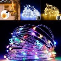 잔디 접지 플러그 램프 문자열 태양 광 (100) 주도 10m 램프 문자열 홈 크리스마스 야외 정원 요정 빛 구리 와이어 (13) 9ls의 G2