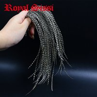 Royal Sissi 20feathers Whiting Blackwhite Grizzly Fly Tying Rooster Saddle Feather 6-9''long 12 # -16 # Torr Fly Tying Saddle Hackle 201019