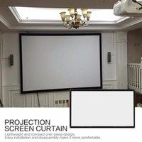 شاشات الإسقاط 16: 9 المحمولة قابلة للطي شاشة العرض 120 بوصة الجدار شنت 3D HD النسيج قماش مسرح السينما المنزلية 1