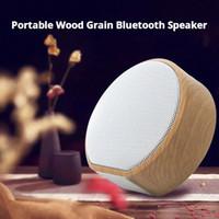 Tarjeta de plug-in Bluetooth portátil de chueto de grano A60 de madera Mini subwoofer Inalámbrico Bluetooth Support TF Tarjeta AUX Radio