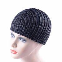 Super Elastic Cornrow Cap For Weave Crochet Treaid Parrucca Cappucci per realizzare parrucche Top Quality Tessitura Treccia Cap Treccia Net Nero Colore 1 PZ