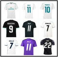 2016 2017 2018 2019 Ronaldo Real Madrid Soccer Jerseys Retro Benzema Ronaldo Bale Marcelo Modric Kross Camisa de Fútbol 16 17 18 Sergio Ramos