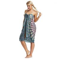 Mulheres Swimwear Estilo Étnico Verão Cover-Ups 2021 Bohemian Mandala Impresso Toalha de Praia Multi-desgaste Sunscreen Dress Skirt Skirt for Women1