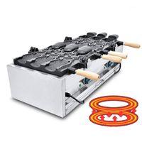 Ekmek Makineleri Jamielin Ticari Kullanımı Dondurma Taiyaki Balık Waffle Maker Demir Makinesi Izgara Molde Açık-Mounth Machine1