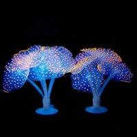 Dekorationen Fischtank Glühende künstliche Quallen Silikon simulierte Wasserpflanzen Fluoreszierende lebendige Quallen Aquarium Dekoration