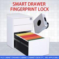 1Set Intelligent Fingerprint Lock Smart USB Electronic Lock Cabinet Fingerprint Padlock Digital Lock Door For Drawer
