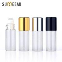 50pieces / lot 3ml Clear Roll On Roller-Flasche für ätherische Öle Nachfüllbare Parfüm-Deodorant-Container